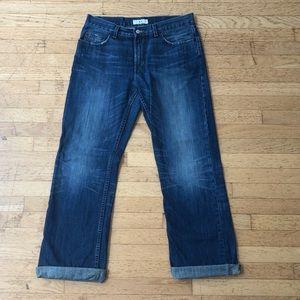 Armani Exchange Men's Distressed Blue Jeans